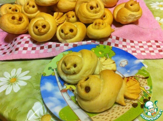 """Как приготовить Постные булочки """"Жаворонки"""" домашний пошаговый рецепт с фото #17"""