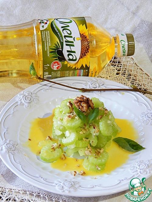 Салат из маринованного сельдерея домашний рецепт приготовления с фотографиями пошагово #8