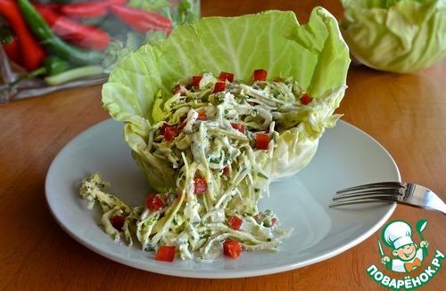 Как готовить Салат из капусты с заправкой из брынзы простой рецепт с фото пошагово #8