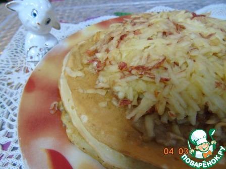 Готовим домашний рецепт приготовления с фото Блинный пирог с яблоками и корицей #5
