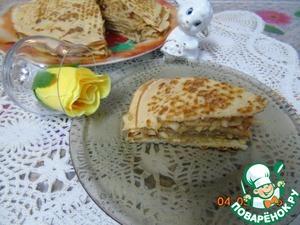 Рецепт Блинный пирог с яблоками и корицей