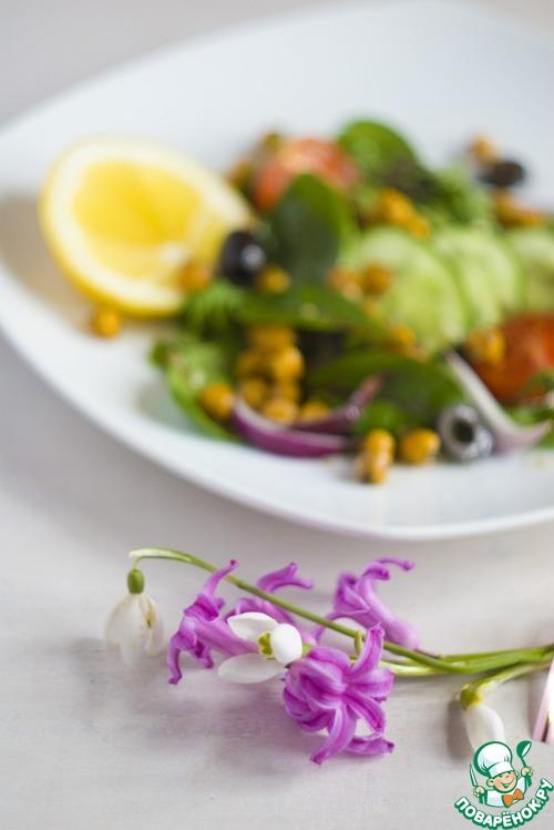 Как готовить Итальянский салат с жареным нутом рецепт приготовления с фотографиями пошагово #6
