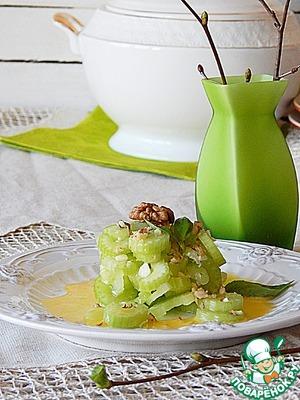 Салат из маринованного сельдерея домашний рецепт приготовления с фотографиями пошагово на Новый Год