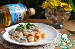 Морские гребешки под соусом quot;Шампаньquot;