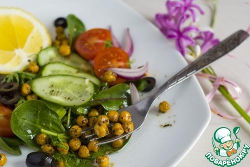 Как готовить Итальянский салат с жареным нутом рецепт приготовления с фотографиями пошагово #8