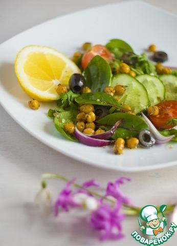 Как готовить Итальянский салат с жареным нутом рецепт приготовления с фотографиями пошагово #5