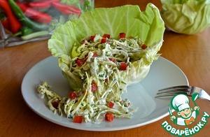 Как готовить Салат из капусты с заправкой из брынзы простой рецепт с фото пошагово на Новый Год
