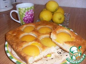 Рецепт Пирог с персиками консервированными