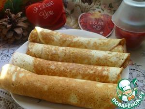 Бисквитные блинчики вкусный пошаговый рецепт приготовления с фото