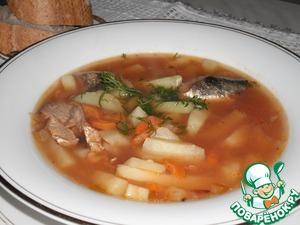 Рецепт Суп из рыбной консервы с фасолью