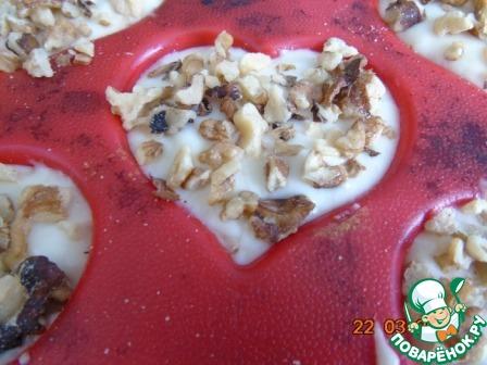Как готовить рецепт с фотографиями Кекс с орешками на кефире #5