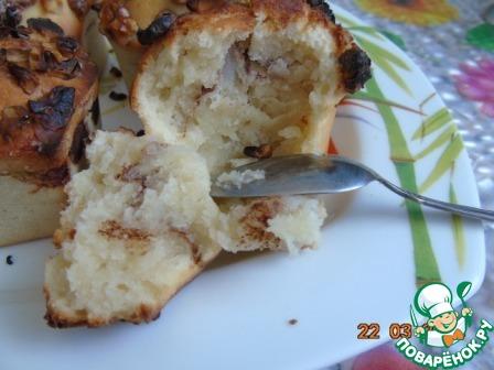 Как готовить рецепт с фотографиями Кекс с орешками на кефире #7