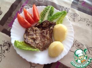 Рецепт Свинина, запеченная в сметанно-луковом соусе