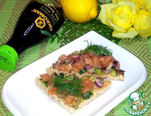 Как приготовить Тартар из лосося домашний рецепт с фотографиями пошагово #13