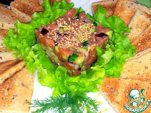 Как приготовить Тартар из лосося домашний рецепт с фотографиями пошагово #12