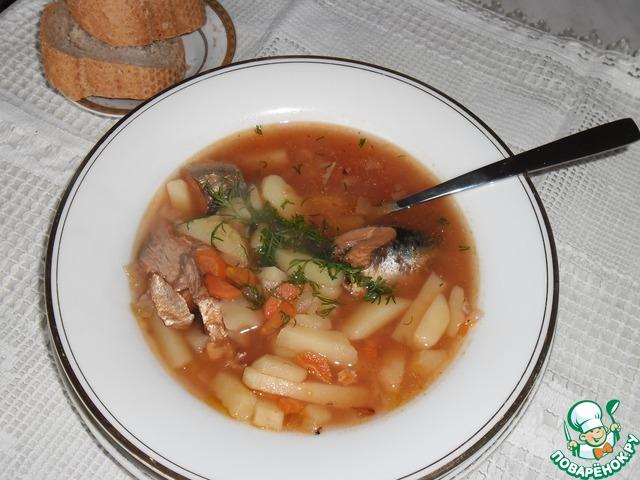 Готовим домашний рецепт приготовления с фото Суп из рыбных консервов #8