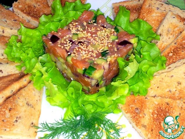 Как приготовить Тартар из лосося домашний рецепт с фотографиями пошагово #8