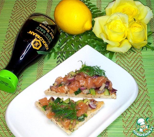 Как приготовить Тартар из лосося домашний рецепт с фотографиями пошагово #9