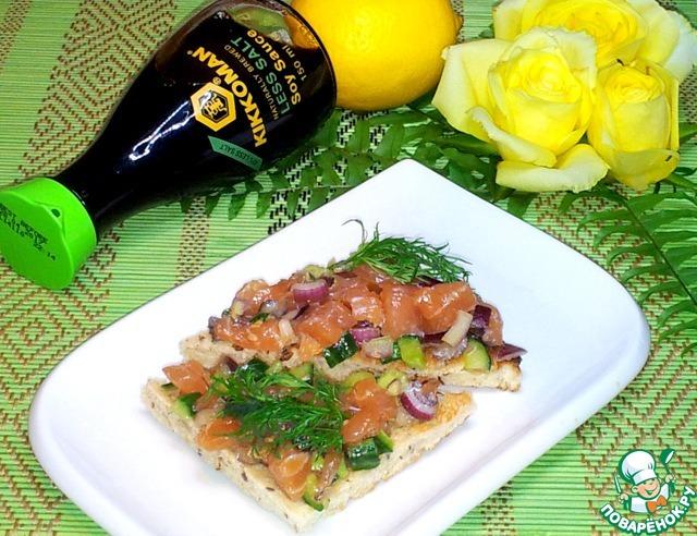 Как приготовить Тартар из лосося домашний рецепт с фотографиями пошагово #10