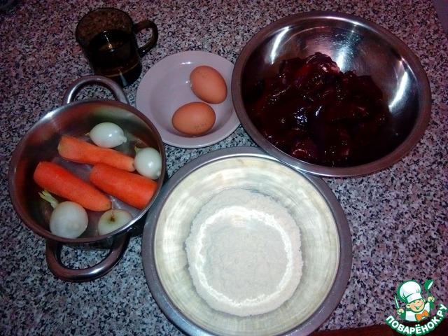 Торт из говяжьй печени домашний рецепт с фото пошагово #4