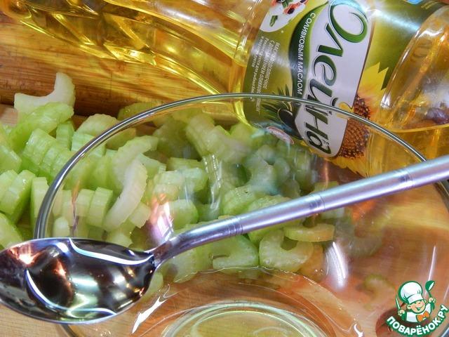 Салат из маринованного сельдерея домашний рецепт приготовления с фотографиями пошагово #3