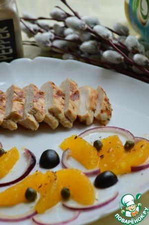 Рецепт Сочная куриная грудка-гриль с марокканским салатом