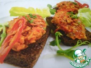 Овощная икра на тостах рецепт приготовления с фото