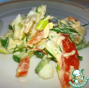 Салат с курицей и маринованным луком пошаговый рецепт приготовления с фото