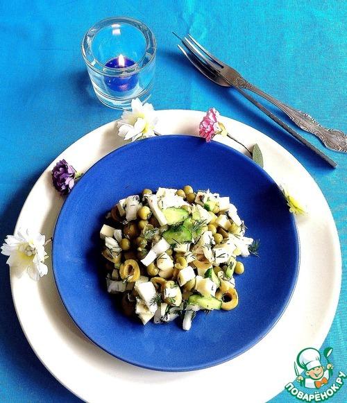 Готовим Салат с овощами и сулугуни рецепт с фотографиями пошагово #6