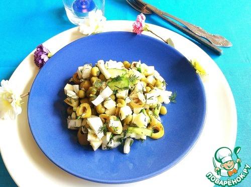 Готовим Салат с овощами и сулугуни рецепт с фотографиями пошагово #7