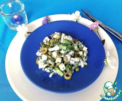 Готовим Салат с овощами и сулугуни рецепт с фотографиями пошагово #8