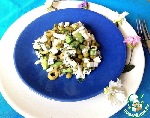 Готовим Салат с овощами и сулугуни рецепт с фотографиями пошагово #9