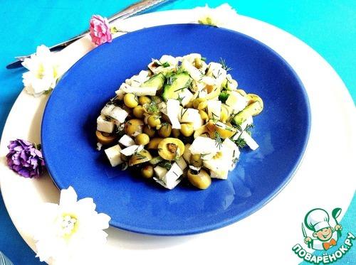 Готовим Салат с овощами и сулугуни рецепт с фотографиями пошагово #10