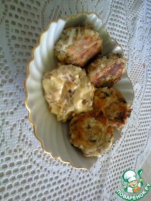 Рецепт Овсяные котлетки с луковым дипом
