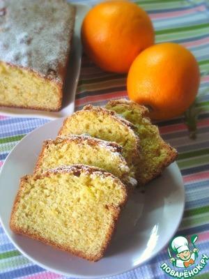Рецепт Апельсиновый кекс из кукурузной муки