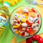 Салат из шампиньонов по-корейски