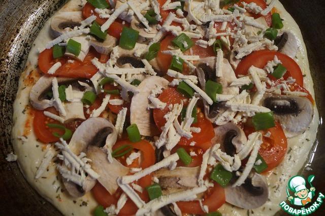 """Как готовить Пицца """"Диетическая"""" простой рецепт с фото #8"""