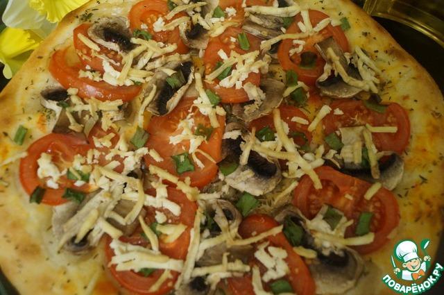 """Как готовить Пицца """"Диетическая"""" простой рецепт с фото #9"""