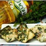 Рыба в зелено-чесночном соусе