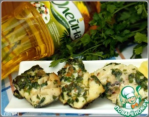 Рецепт Рыба в зелено-чесночном соусе