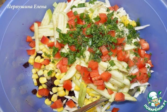 """Как приготовить Фруктово-овощной салат """"Весенние этюды"""" рецепт приготовления с фото пошагово #6"""