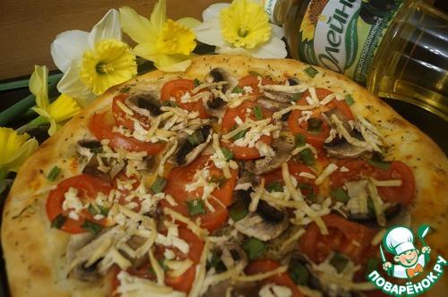 """Как готовить Пицца """"Диетическая"""" простой рецепт с фото #11"""