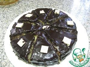 Рецепт Бисквитный торт в шоколадной глазури