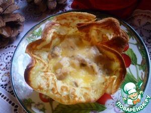Рецепт Картофельные блинные корзиночки начинкой