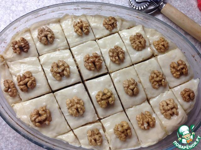 Как приготовить Пахлава домашний пошаговый рецепт с фото #17