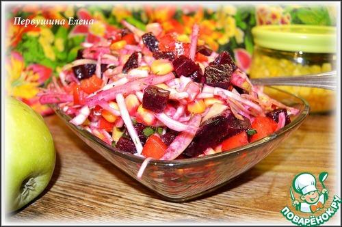 """Как приготовить Фруктово-овощной салат """"Весенние этюды"""" рецепт приготовления с фото пошагово #12"""