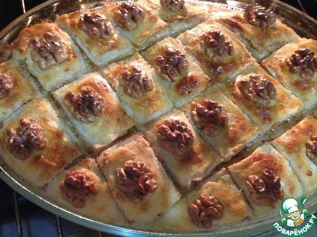 Как приготовить Пахлава домашний пошаговый рецепт с фото #19