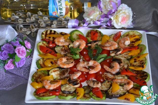 Гриль квартет с креветками простой рецепт приготовления с фото #7