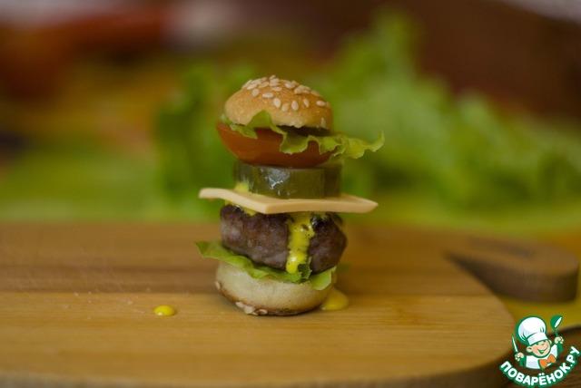 Мини-гамбургеры для детей и взрослых рецепт приготовления с фотографиями пошагово готовим #25