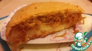 Рецепт Пирог с капустой постный